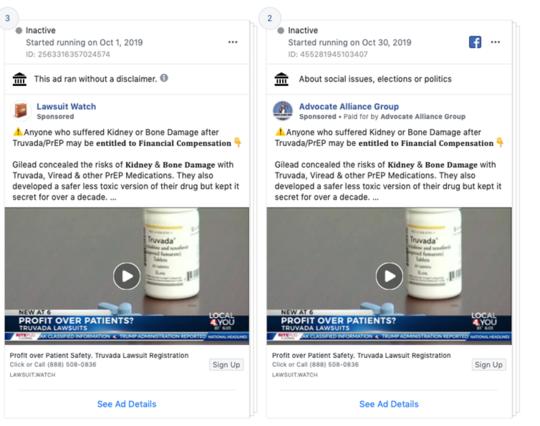 क्यों वकील आप फेसबुक विज्ञापनों के साथ डराने की कोशिश कर रहे हैं