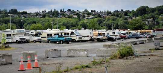'Interbay Safe Zone' in Noord-Seattle, kort voor sy sluiting.