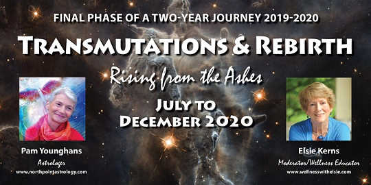 Transmutations & Rebirth Astrological Guidance från juli till december 2020 med Astrolog, Pam Younghans of North Point Astrology.