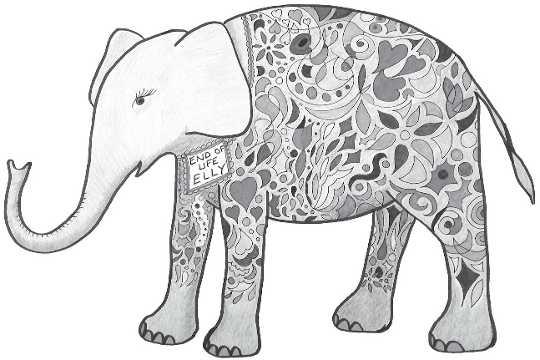 엘리, 인생의 끝 코끼리