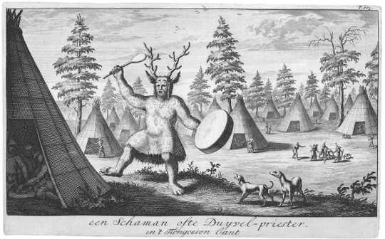 اولین تصویر اروپایی از یک آیین shamanistic. (چرا کمی تفکر جادویی می تواند در حال حاضر به جهان کمک کند)