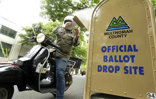 Drop boxes can be a helpful alternative to mailboxes (mail in voting lessons from oregon the state with the longest history of voting by mail)
