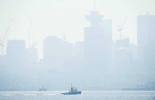 Metro Vancouver utstedte en luftkvalitetsrådgivning den 8. september 2020 på grunn av røyken fra skogbranner som brant sør for den amerikanske grensen.