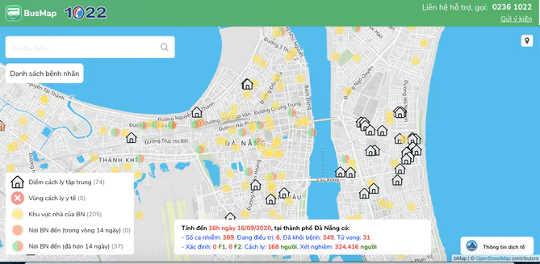 BusMap از داده های دولتی برای کمک به مردم در جلوگیری از نقاط آلوده به COVID-19 در دانانگ استفاده می کند (خبرهای خوب از موج دوم ویتنام از برگرهای میوه اژدها برای پوشاندن اتم ها)