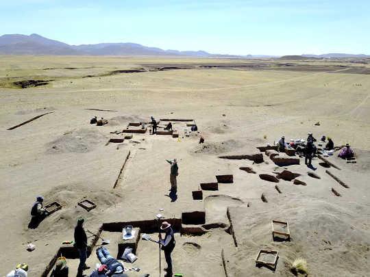 Utgravninger ved Wilamaya Patjxa.