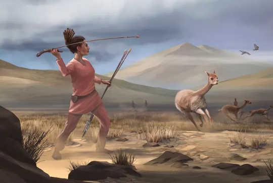 一部の先史時代の女性も狩りをしましたか?