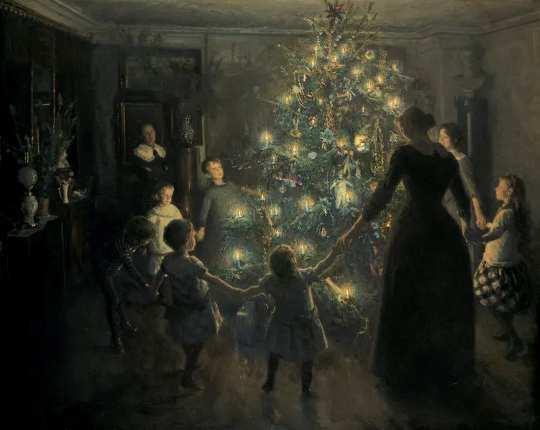 Es gab nie einen richtigen Zeitpunkt, um die Weihnachtsdekoration anzubringen