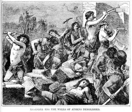 विपत्तियाँ प्राचीन ग्रीक कहानियों में खराब नेतृत्व का पालन करती हैं