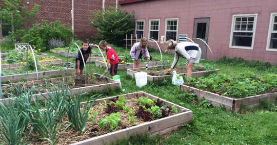 How School Gardens Reconnect Kids With Food