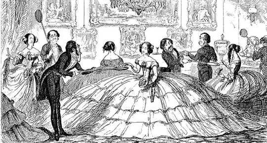 Muodikas sosiaalisen etäisyyden historia