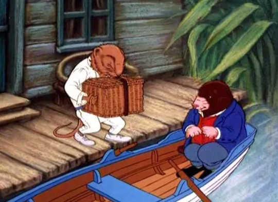 ボートでいじりまわす:本の1995年の映画版からの画像。