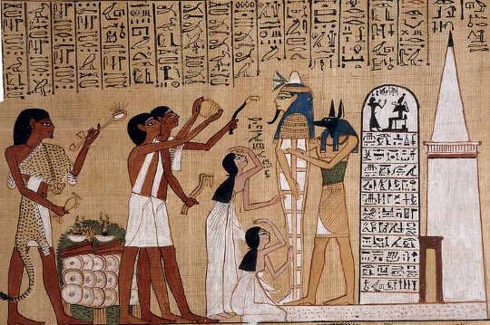 기원전 1275 년에 파피루스에 쓰여지고 그려진 고대 이집트 사본