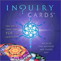 cover art for Enquiry Cards: 48-card Deck, Guidebook and Stand by Sylvia Nibley (Author), Jim Hayes (Artist)
