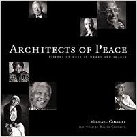 本の表紙:平和の建築家:マイケル・コロピーによる言葉と画像の希望のビジョン。