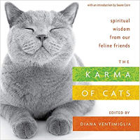 copertina del libro: The Karma of Cats: Spiritual Wisdom from Our Feline Friends by Various Autori.