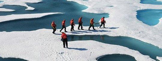 北極融化準備開始