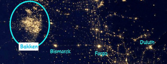 Flaring Lights Up North Dakota