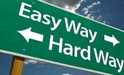 Enkelt sätt, svårt sätt: Låt oss gå i strid